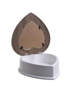 Cutie inima din lemn pentru bijuterii - INART