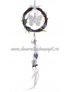 Decoratiune coroana cu ornament fluture