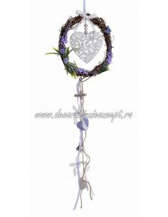 Decoratiune coroana cu inimi