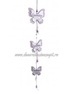 Decoratiune lemn fluturi