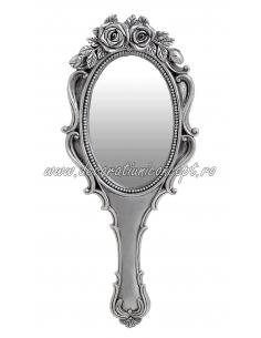 Oglinda argintie trandafiri
