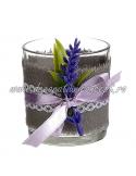 Pahar decorativ candela lavanda