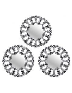 Set 3 oglinzi argintii