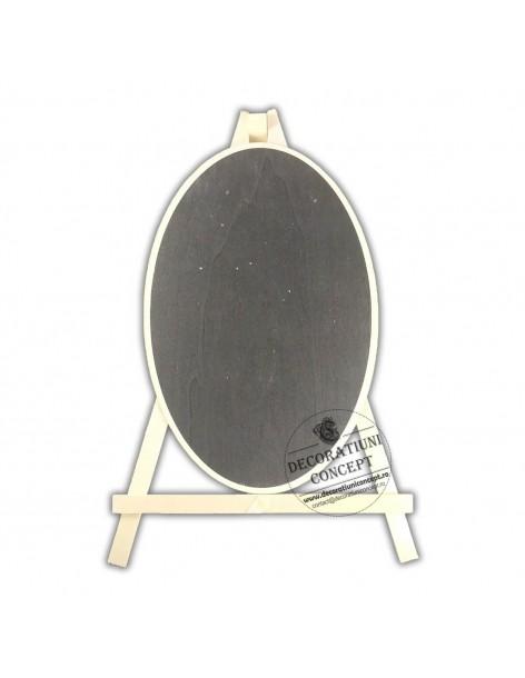 Tablita afisaj ovala, din lemn