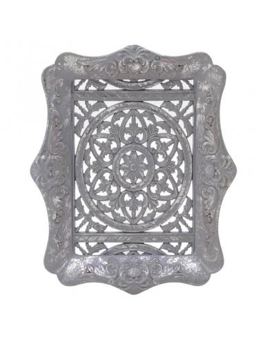 Decor din lemn, gri-argintiu Antique