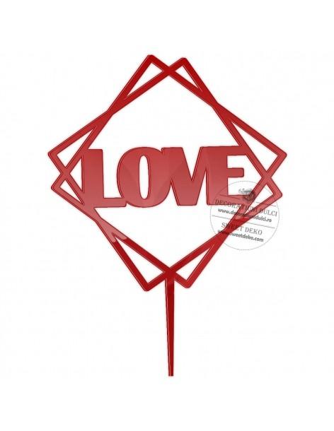 Topper Geometric Love, plexi