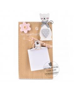 Tablita mesaj cu Dna. Pisica