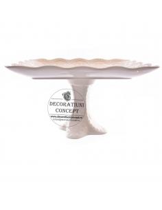 Platou ceramic, cu picior